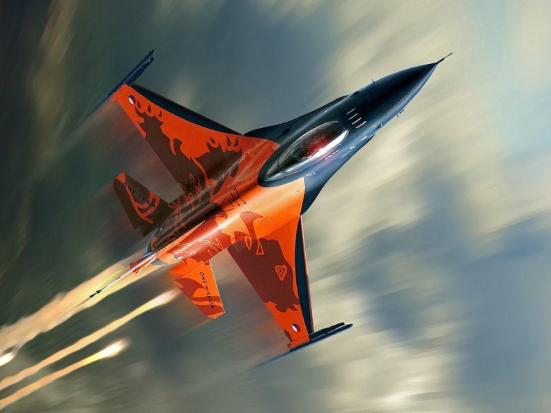 16 Fighting Falcon Fighter Aircraft 1920×1080