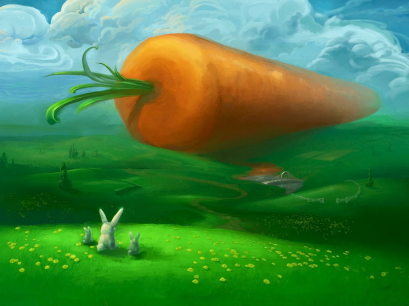 Funny Wallpapers Giant Carrot 102742