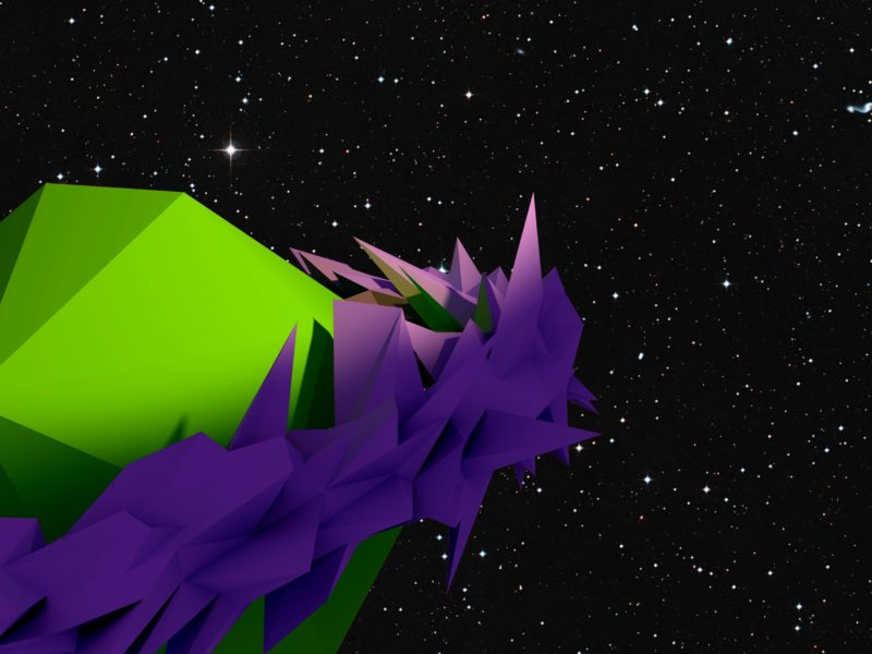 A Low Poly Planet In Space