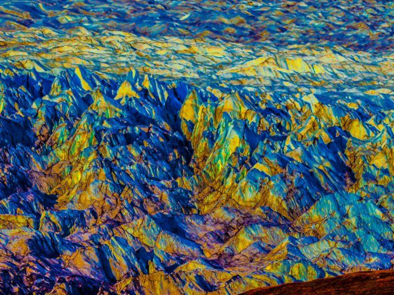 Abstract Glacier In Greenland