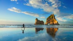 Beach Sunset Jog 4k 1600×900