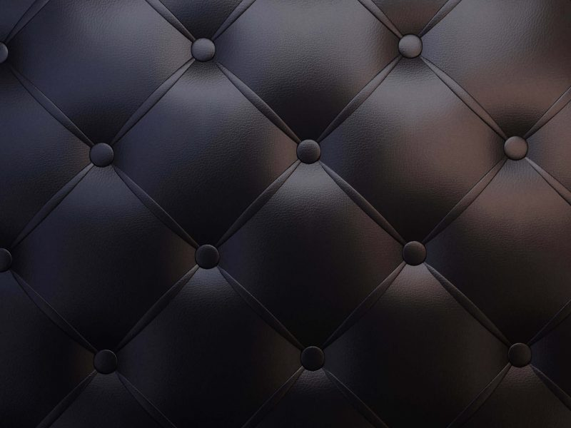 Black Leather Vintage Sofa