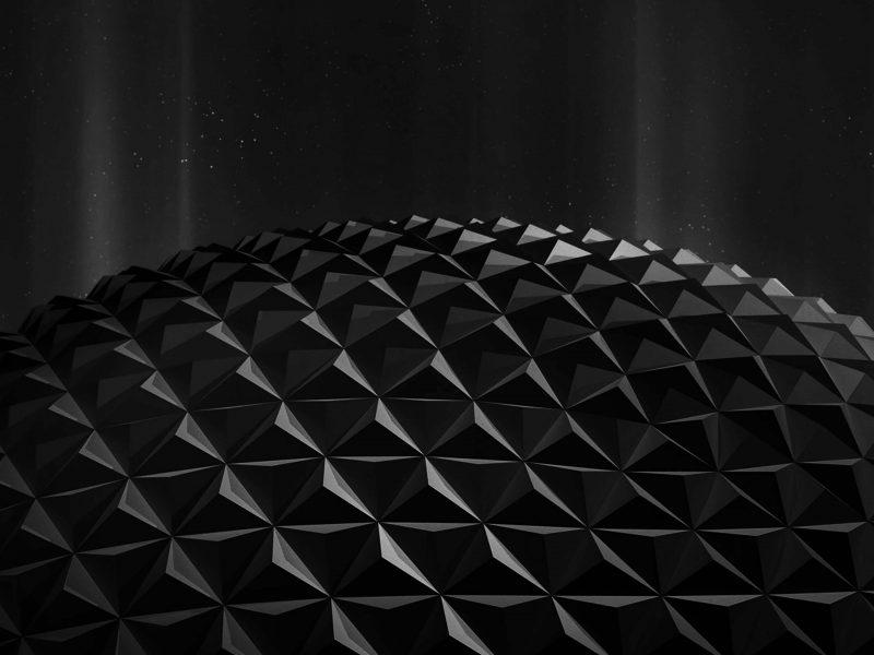 Black Polygon Planet