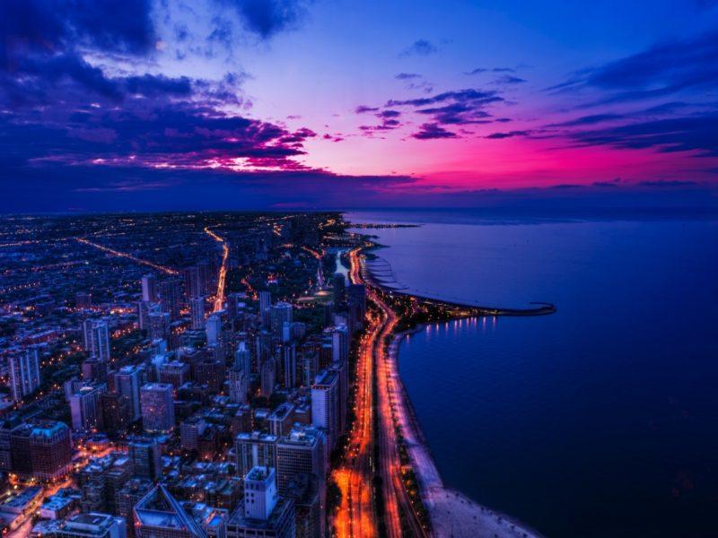 Chicago Sunset 1600×900
