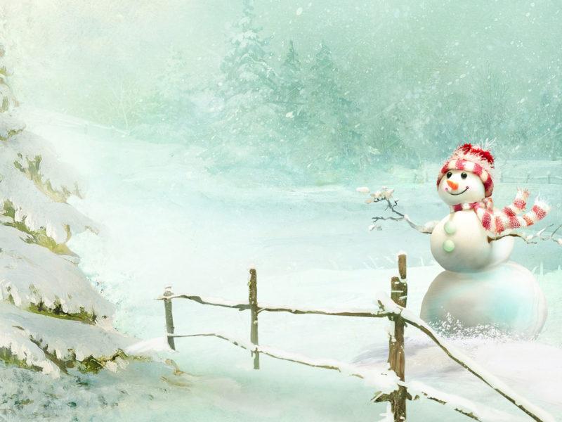 Christmas Snowman Wide