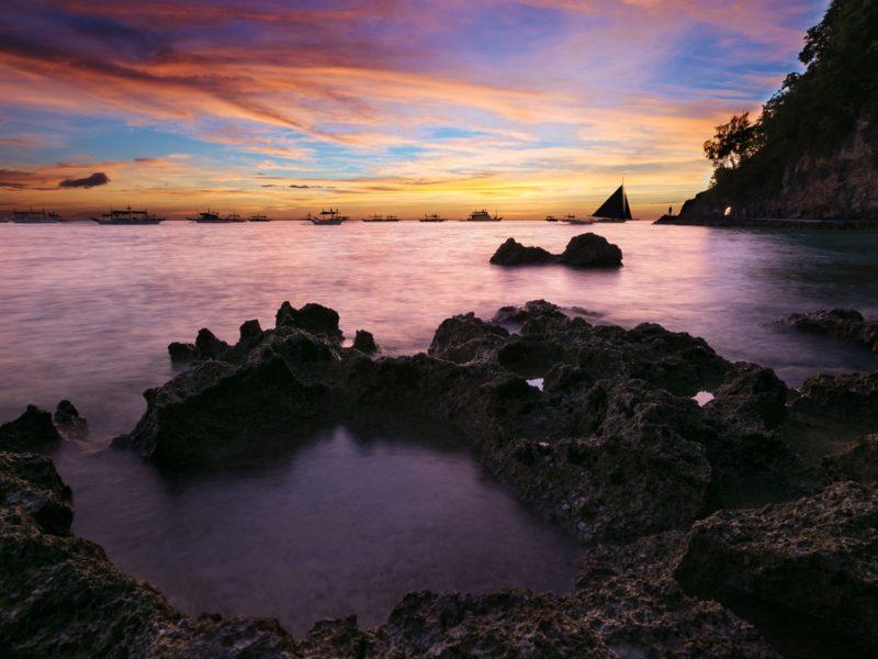 Coastal Sunset Seascape 1600×900