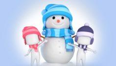 Cute Snowman Vector Art