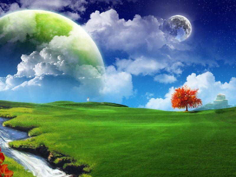 Dreamy Landscape Wide