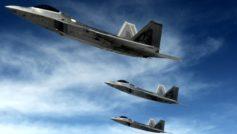 F 22 Raptors Stealth Fighters Wide