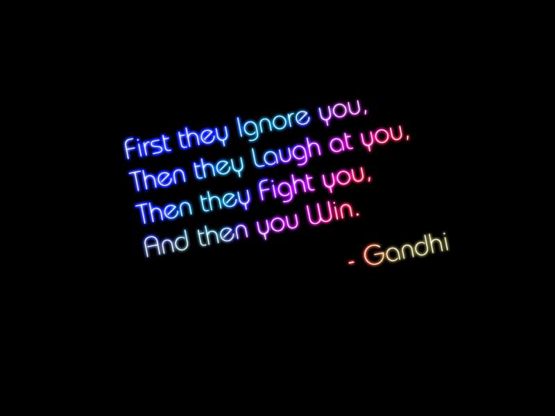 Gandhi Quote Black Background
