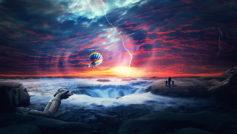 Heaven Sunset Sea Airballons Hd