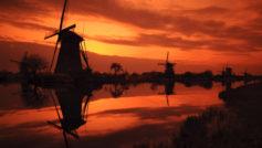 Kinderdijk Sunset Wide
