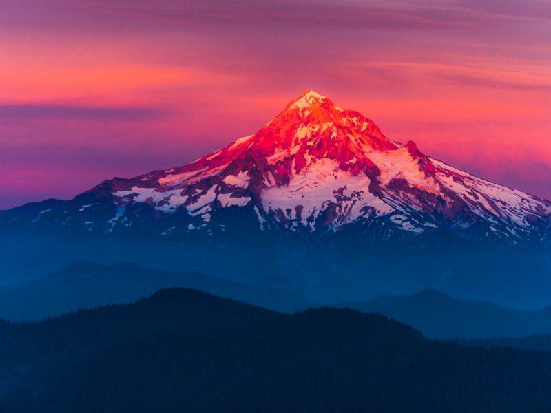 Larch Mountain Sunset 1600×900