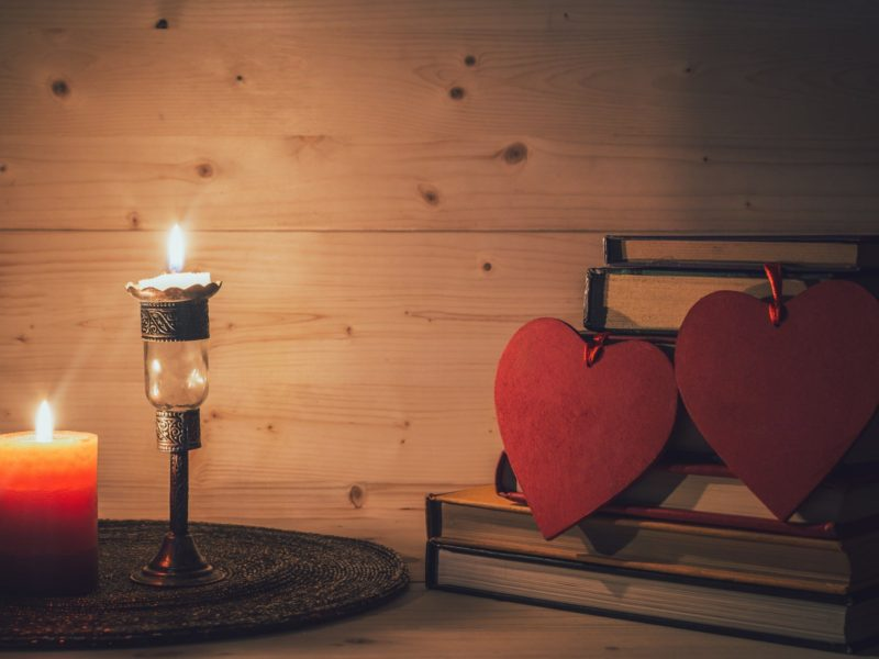 Love Tags Books Candles And Hearts