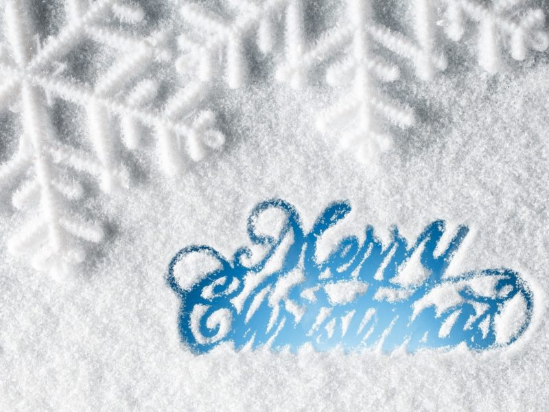 Merry Christmas Snow Wide