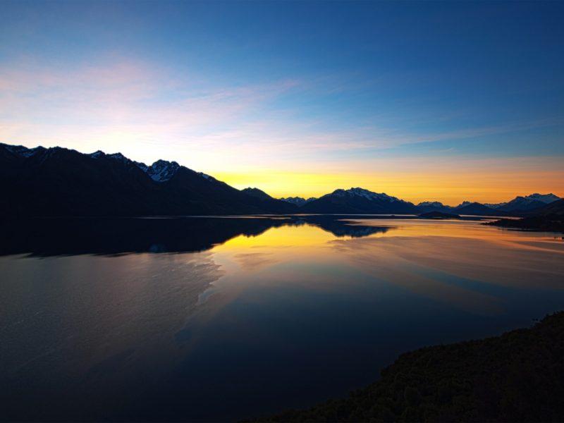 New Zealand Sunset 1600×900