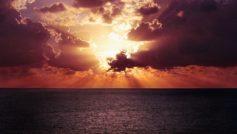 Ocean Horizon Sunset 1600×900