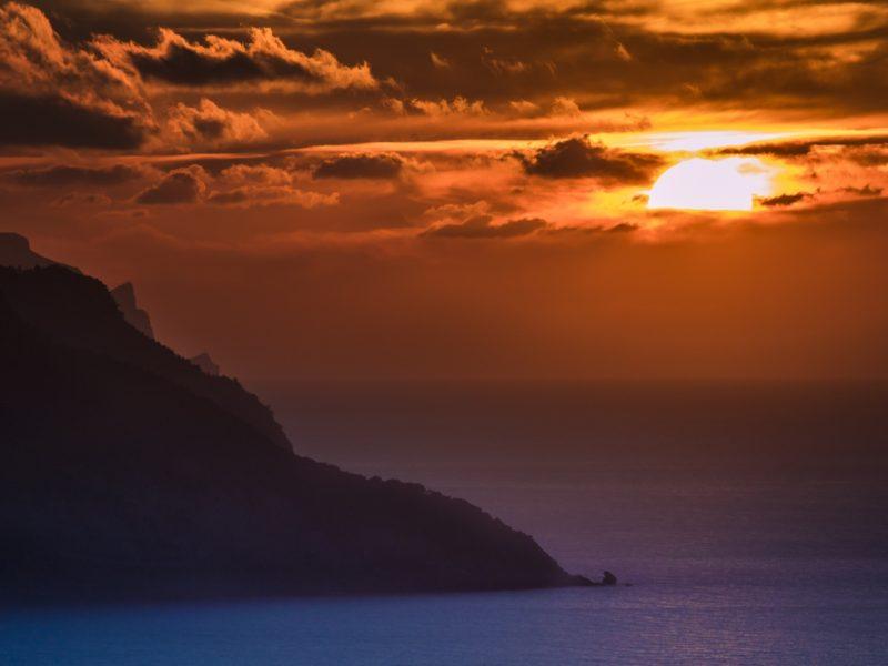 Ocean Sunset 1600×900