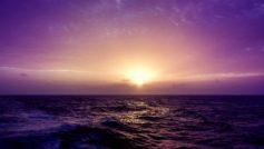 Purple Sea Sunset 1600×900