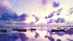 Purple Sunset In Ocean 1280×960