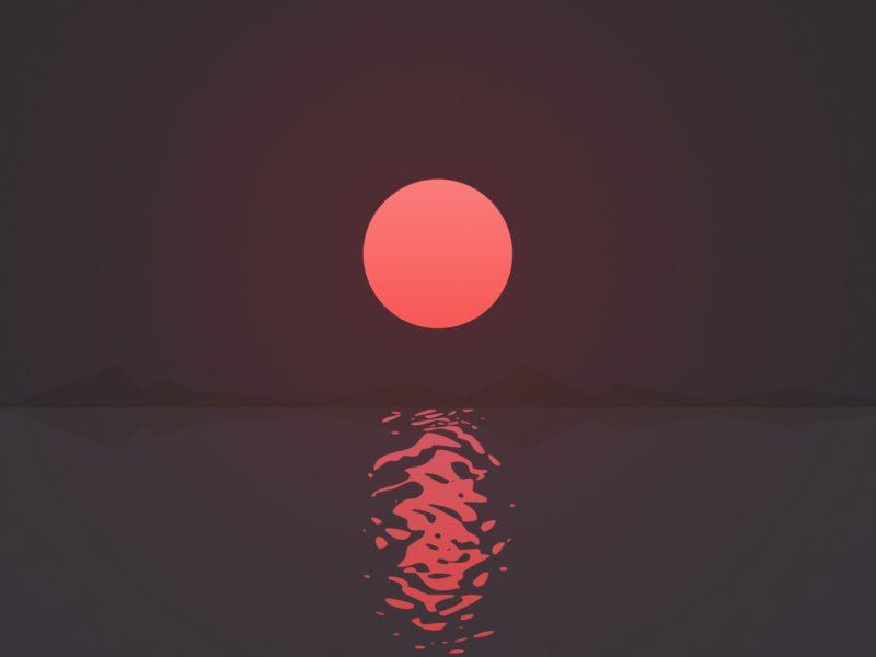 Ripple Sunset 4k 2560×1440