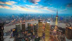 Shanghai Sunset 1600×900