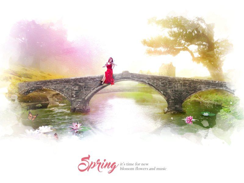 Spring Blossom Flowers Music 2560×1440