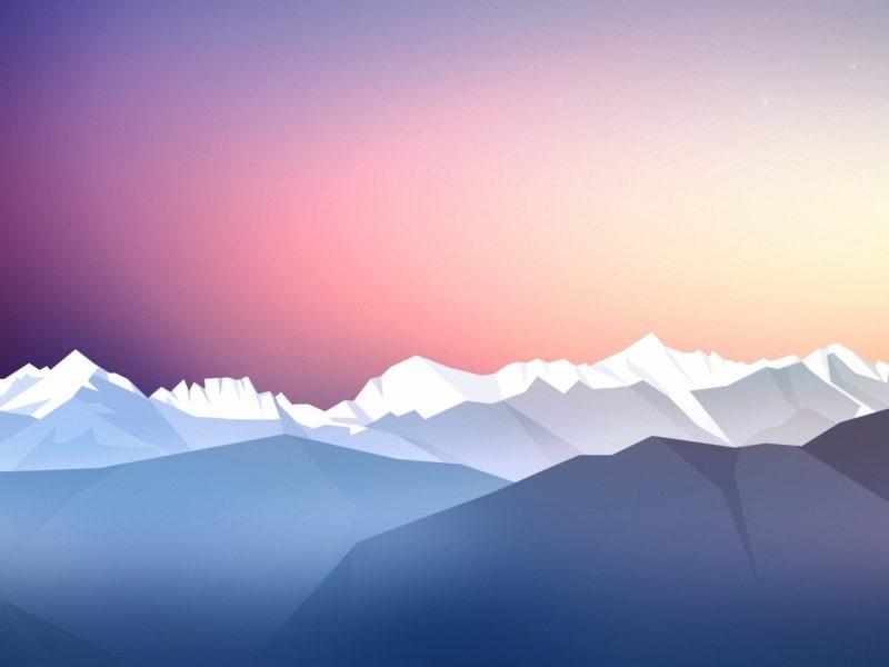 Stars Sky Twilight Sunset Wide