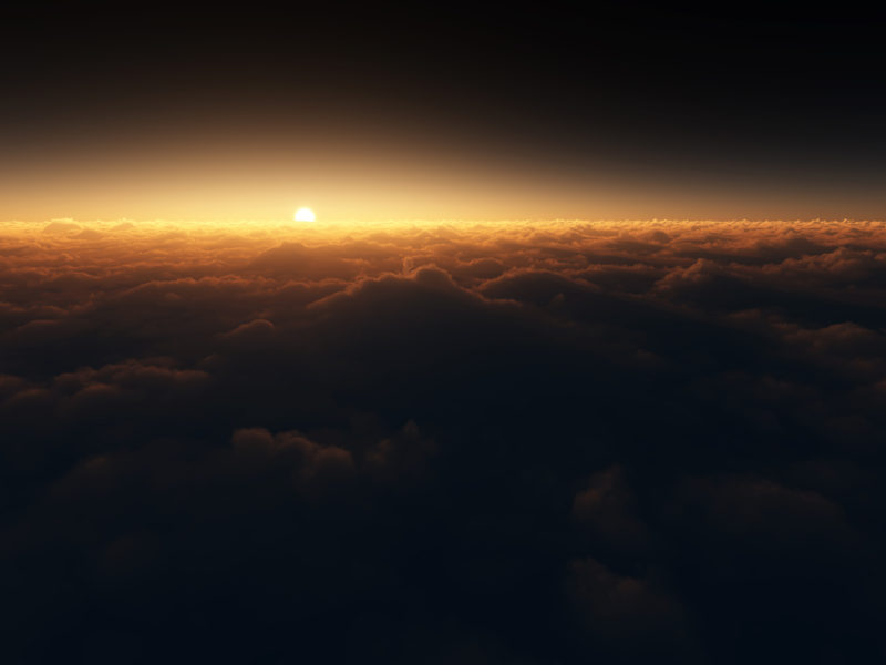 Sunset Clouds Horizon Wide