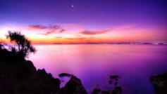 Sunset Moonrise Wide