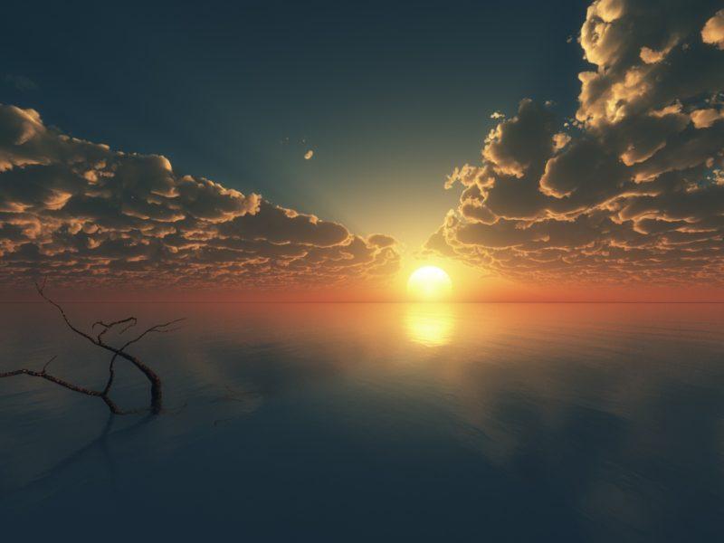 Sunset Reflections Digital 1600×900
