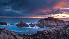 Sunset Time Canal Rocks Western Australia Hd