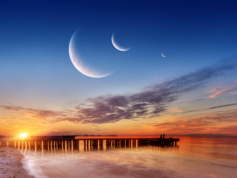 Three Moons Wide