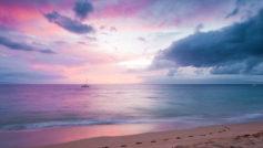 Twilight Island Beach Sunset Wide
