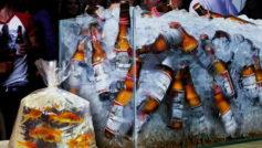 Wallpapers Bottles In The Aquarium 093148
