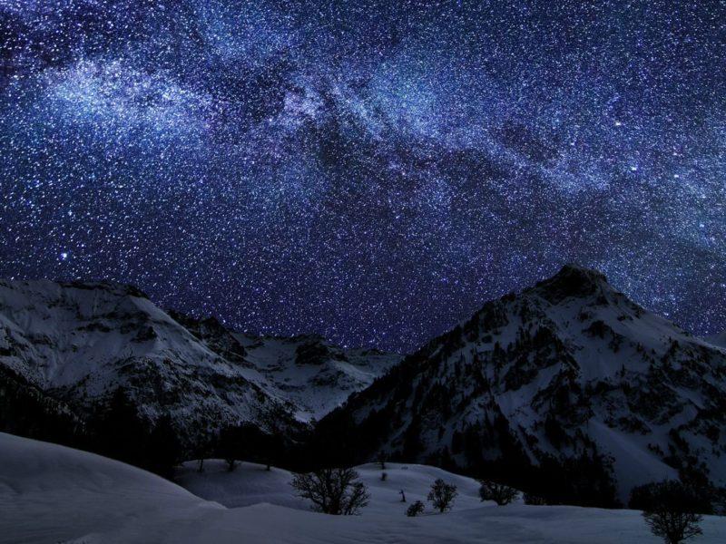 Winter Sky Stars Nature Night