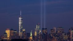 September 11th Tribute In Light From Bayonne New Jersey