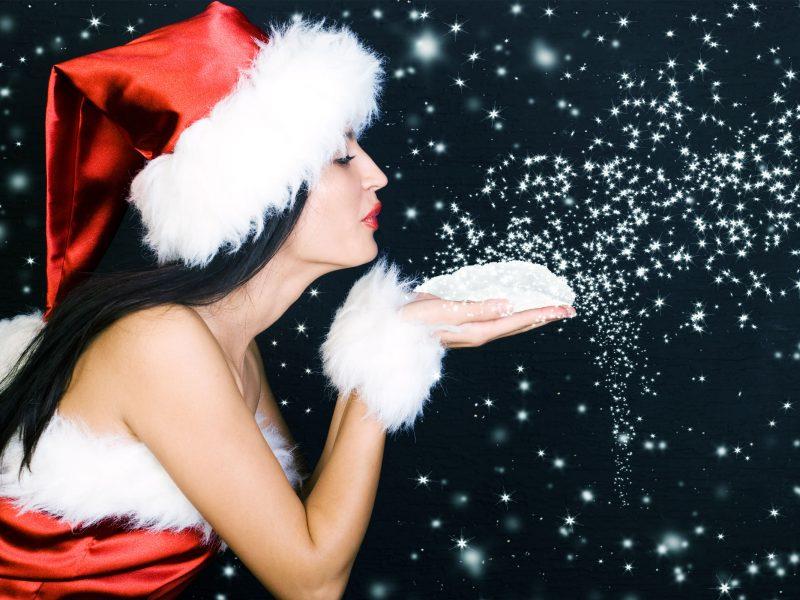 Beautiful Christmas Sanata Babe Wallpapers Hd Wallpapers
