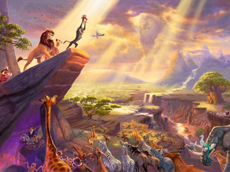 Disney Cartoon: The Lion King by Thomas Kinkade