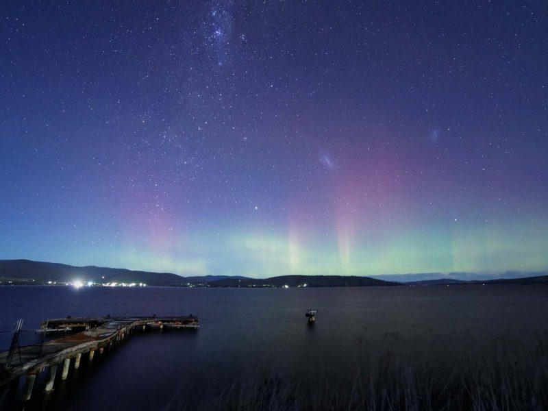 Aurora Borealis Over The Lake