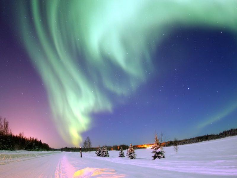 Aurora Over Bear Lake