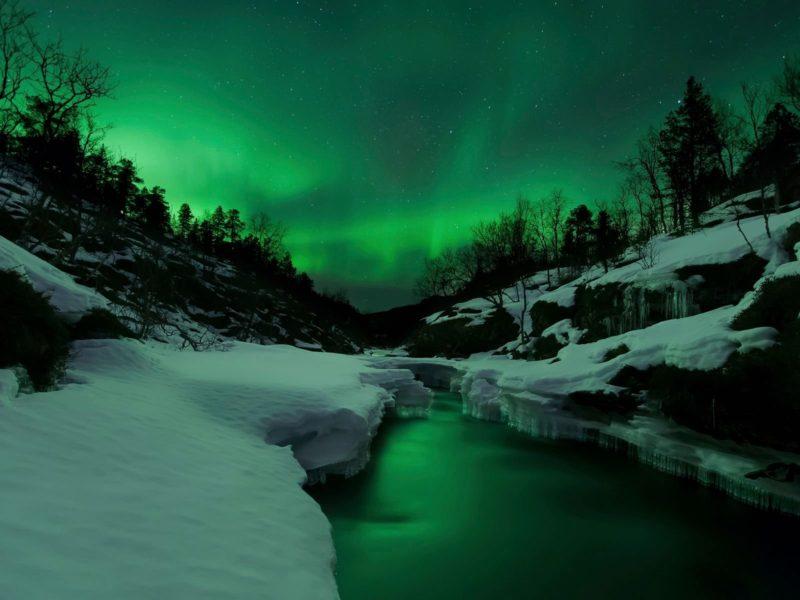 Aurora Over Tennevik River