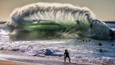 Backwash Wave At Seal Beach Ca