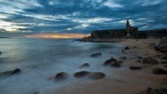 Beach Rocks Twilight