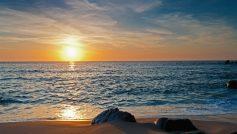 Beach Sunset Landscape View