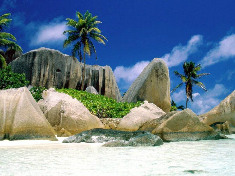 Beautiful Beach And Rocks