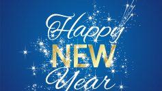 Happy New Year 2016 Firework Blue Background