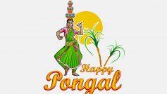 Happy Pongal Dancing Woman