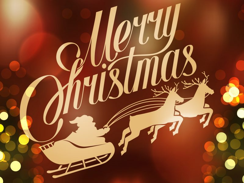 Merry Christmas 2015 Carriage Santa Claus Vector Happy Desktop