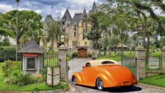 1937 Ford (orange) Side Rear